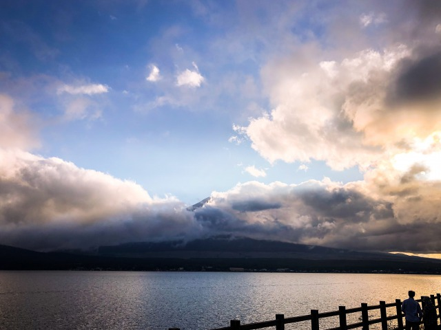 ViewPointからわずかに、ほんのわずかに見えた富士山!