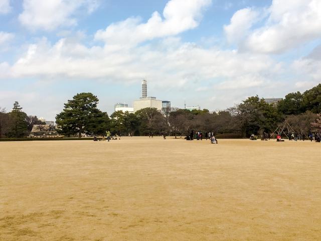 皇居東御苑。ピクニックなんてしたら最高でしょうね!