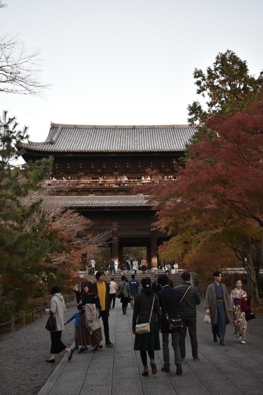 夕焼けの南禅寺・三門