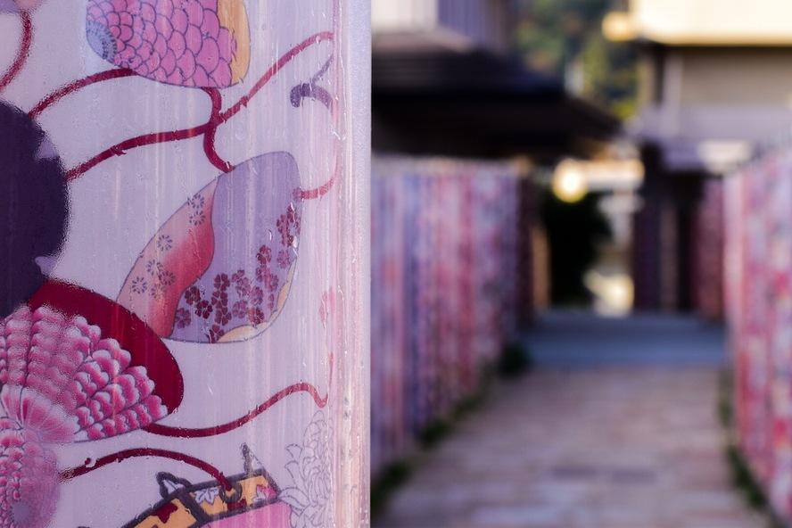 京都・嵐山_キモノフォレストの京友禅
