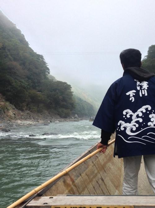 保津川下りの船頭さん