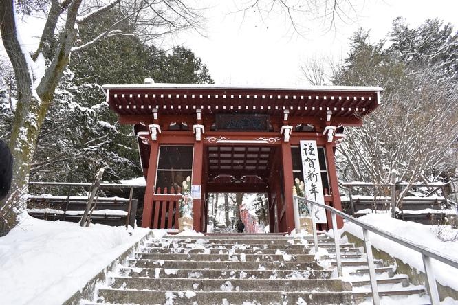 雪の草津温泉_光泉寺