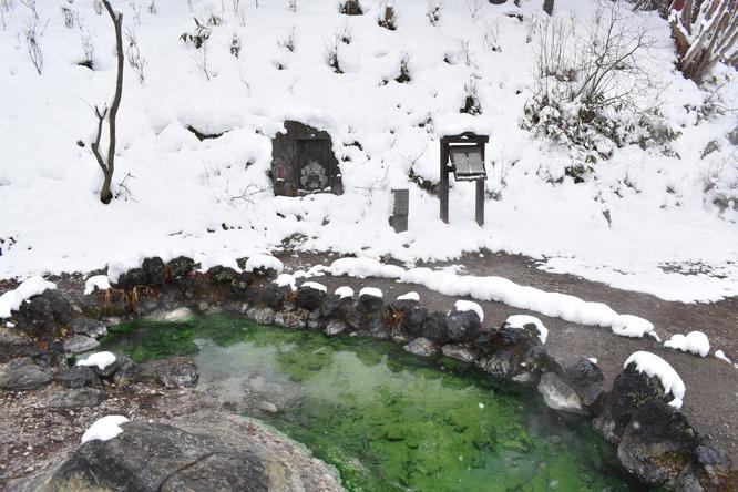雪の草津温泉_西の河原公園と鬼のお湯