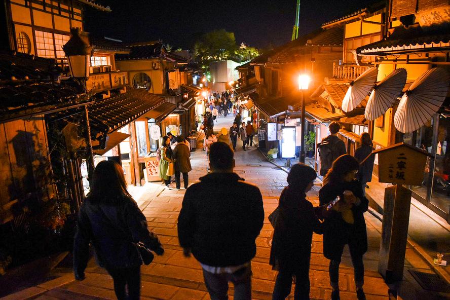 京都祇園・東山_二寧坂と産寧坂の夜