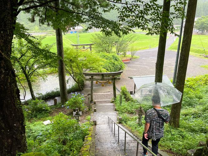 モネの池_名もなき池と神社_岐阜の風景