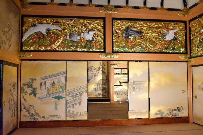名古屋城_本丸御殿_黄金の襖絵と彫刻