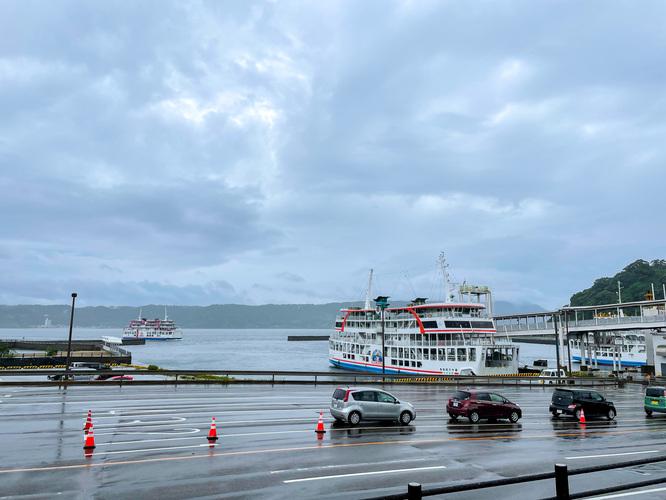 鹿児島観光_桜島港とフェリー