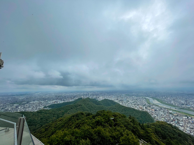 岐阜城_金華山ロープウェイ_展望台からの風景
