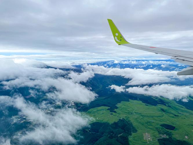鹿児島空港上空の風景