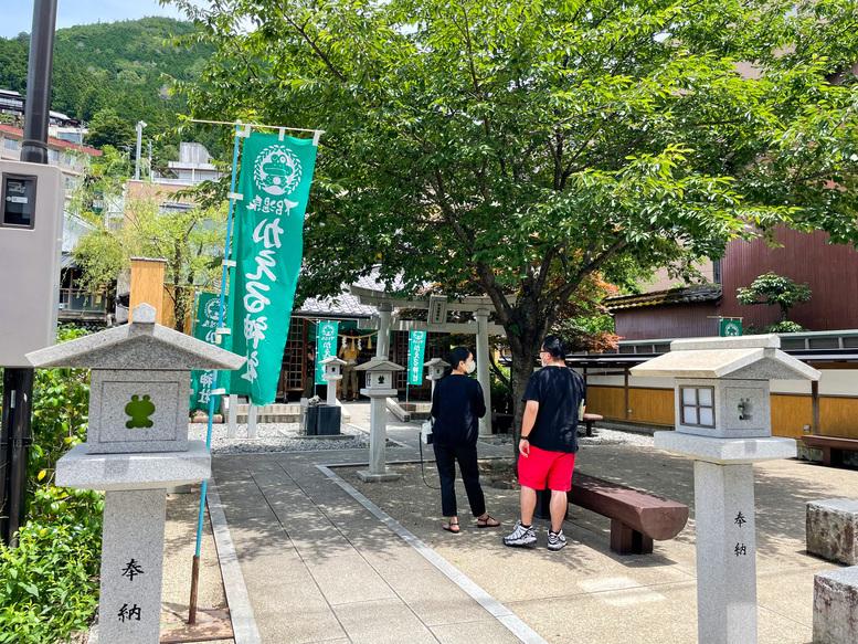 下呂温泉_温泉街と加恵瑠神社