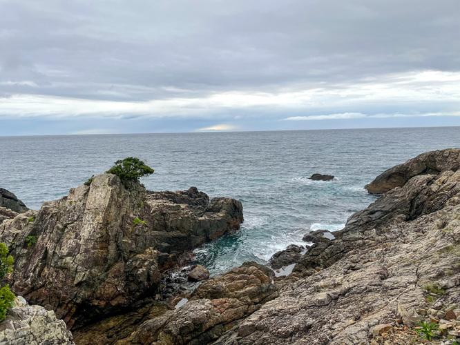 屋久島サイクリング_宮之浦→安房の海の風景