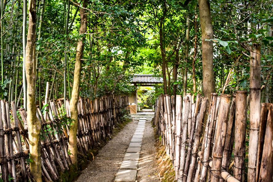 厭離庵の入り口・アクセス_京都・嵐山の紅葉名所