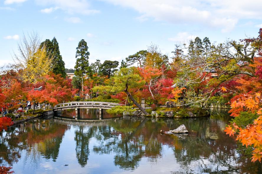 永観堂の見どころ_秋の紅葉と放生池