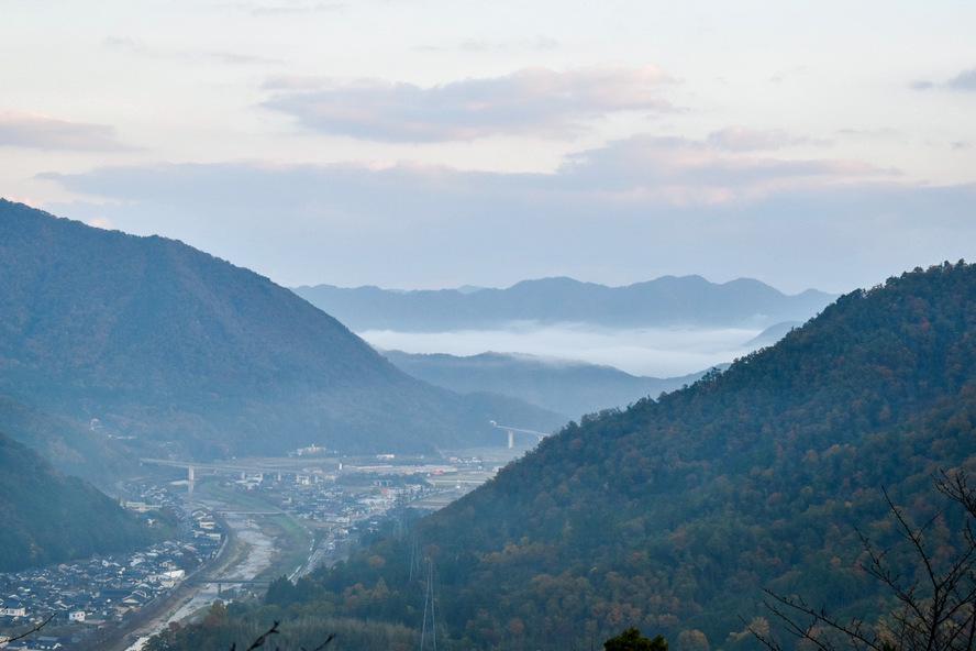 立雲峡と竹田城跡_雲海
