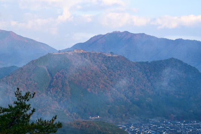 竹田城跡と立雲峡_雲海風