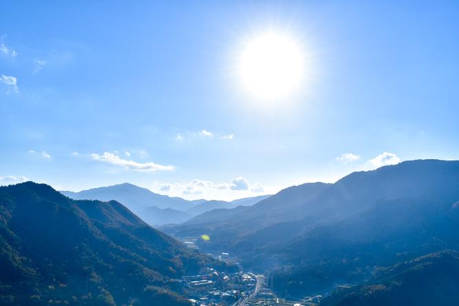 竹田城跡の見どころ_天守台から南千畳を眺める