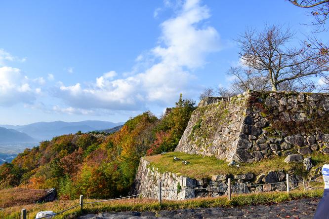 竹田城跡_朝日と風景
